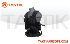 Lancer tactical cross draw vest black