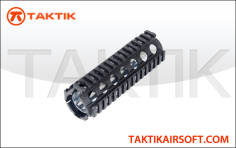 A&K M4 2pc Quad Rail Handguard metal black