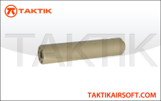 Lancer Tactical reproduction Silencer 155 mm type S aluminium tan