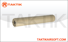 Lancer Tactical reproduction Silencer 195 mm type L aluminium tan