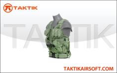 Lancer tactical cross draw vest green