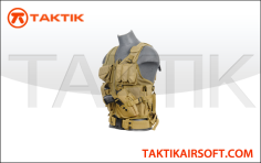 Lancer tactical cross draw vest tan