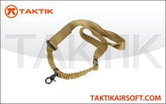 Lancer tactical sling single point bungee tan