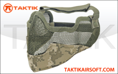Tactical crusaders mesh mask ears face acu