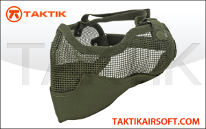 Tactical crusaders mesh mask ears face green