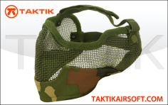 Tactical crusaders mesh mask ears face woodland jungle