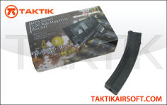King Arms MP5 100rd Mag Boxset plastic black