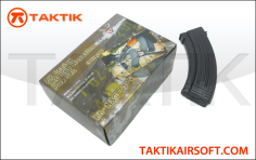 King Arms AK AK47 110rd Mag Boxset plastic Black
