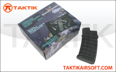 King Arms AUG 110rd Mag Boxset plastic Black