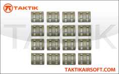 Taktikal Rail Cover Sets 32 Pieces plastic green OD