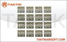 Taktikal Rail Cover Sets 32 Pieces plastic green OD