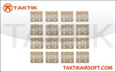 Taktikal Rail Cover Sets 32 Pieces plastic tan