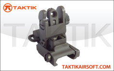 ARMS style rear flip up sight metal black