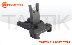 Knight's style front flip up sight metal black