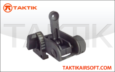 Matech style rear flip up sight metal black