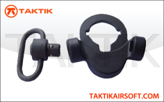 Taktikal TRY QD Sling Swivel with buffertube mount metal black
