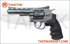 ASG Revolver 4 Dan Wesson Metal silver