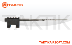 Taktikal railed gas block metal black