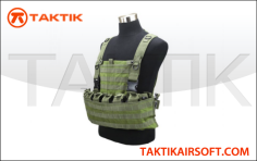 Defcon Modular Pouch System Vest Green