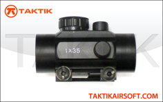 Simple Red Green dot sight black metal