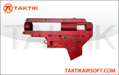 Taktikal V2 Gearbox 8mm machined aluminum red
