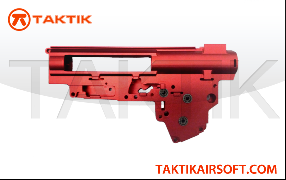 Taktikal V3 Gearbox 9mm machined aluminum red