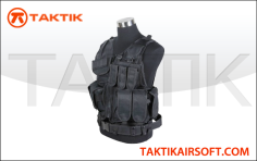 DEFCON TACTICAL CROSSDRAW VEST BLACK