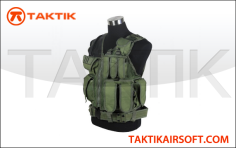 DEFCON TACTICAL CROSSDRAW VEST GREEN