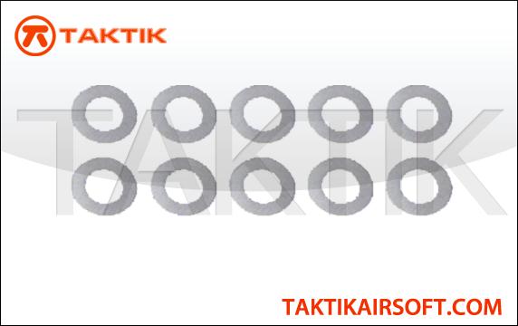 Taktikal 3mm Shim Set 0.3mm x 10  0.5mm x 10 metal