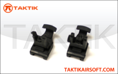 Taktikal Quick Release Folding Sight Set Plastic Black