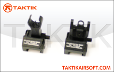 Taktikal Troy Style Folding Sight Set Metal Black