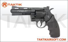 Cyberbergun Colt Python 4 inch revolver Metal black
