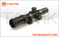 Taktikal 1.5x to 4x 28mm Rifle Scope Metal Black