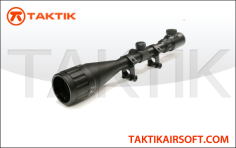 Taktikal Illuminated 6x to 24x 50mm OE Sniper Scope Metal Black