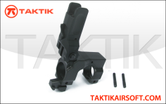 King Arms Knight's Flip-Up Front Sight Gas Block Metal Black