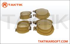 Lancer Tactical Elbow and Knee Pad Set Tan