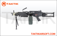 A&K M249 Para Machinegun Metal Black