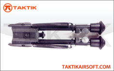 Taktikal Harris Style 6 inches M6 Bipod Metal Black