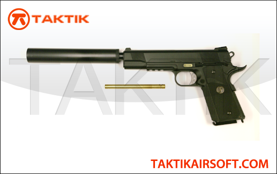 WE Tech 1911 MEU Metal Black