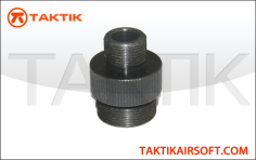 Taktikal Silencer Adapter for Well MB-08 MB-10 Metal Black