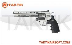 ASG Revolver 6 Dan Wesson Metal silver