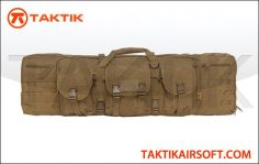 0Lancer Tactical MOLLE 42 inches double Gun Bag Tan