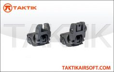 Taktikal Folding sight set Plastic Black