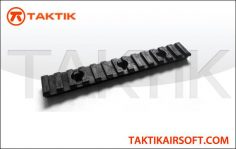 Taktikal rail segment 135mm plastic Black