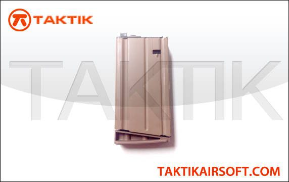 WE Tech SCAR-H 30 round GBB Mag metal Tan