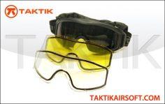 Taktikal Triple Lens Goggles Black