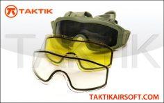 Taktikal Triple Lens Goggles green
