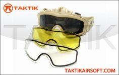 Taktikal Triple Lens Goggles tan