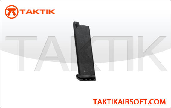 KWA 1911 MK Series 21 round GBB Mag Metal Black