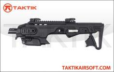 King Arms CAA Airsoft RONI-B Pistol Carbine Conversion for Beretta M9 M9A1 Black